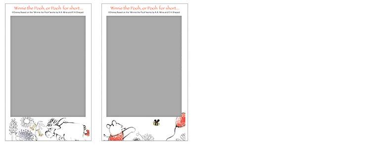 チェキ専用フィルム 絵柄入りフレームタイプ(くまのプーさん) pooh09-10