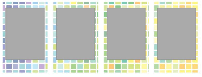 チェキ専用フィルム 絵柄入りフレームタイプ(ステンドグラス) stainedglas01-04