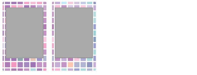 チェキ専用フィルム 絵柄入りフレームタイプ(ステンドグラス) stainedglas09-10