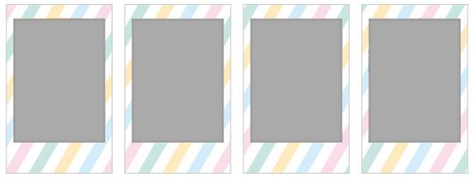チェキ専用フィルム 絵柄入りフレームタイプ (ストライプ) stripe01-04-670x258