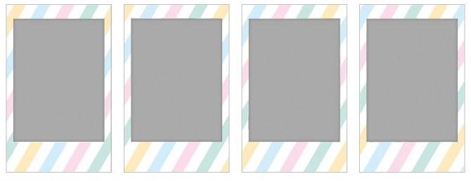 チェキ専用フィルム 絵柄入りフレームタイプ (ストライプ) stripe05-08-670x258
