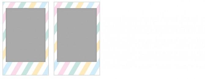 チェキ専用フィルム 絵柄入りフレームタイプ (ストライプ) stripe09-10-670x258